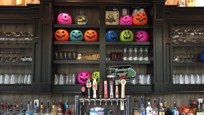 The bar at Van B's in Iowa City on Oct. 11, 2017.
