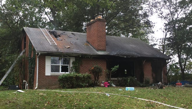 A fire early Thursday caused severe damage to a house at 901 W. Fuson Road.