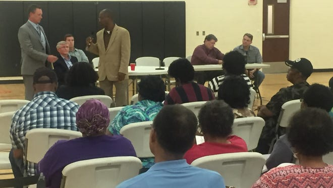 Shortleaf, LLC, is hoping to receive Escambia County's permission to open a new construction and demolition pit in Wedgewood. Shortleaf representatives and Escambia County officials gathered to take public questions about the proposal Oct. 12, 2017, at the Marie K. Young Wedgewood Community Center.