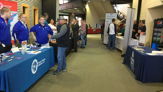 Terra State Community College held a Skilled Trades Internship Fair Wednesday at the college's Fremont campus.