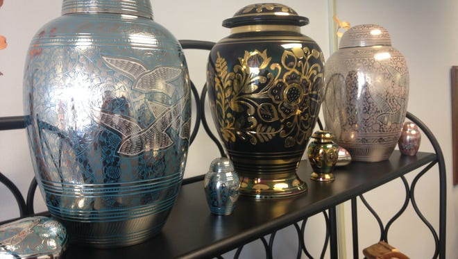 Urns of all shapes and sizes.