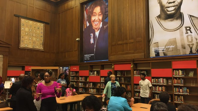 The public gets its first look at the new Center for Black Literature and Culture at Central Library Downtown on Saturday, Oct. 21, 2017.