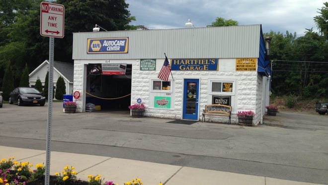Hartfiel's family garage is located in Spencerport.