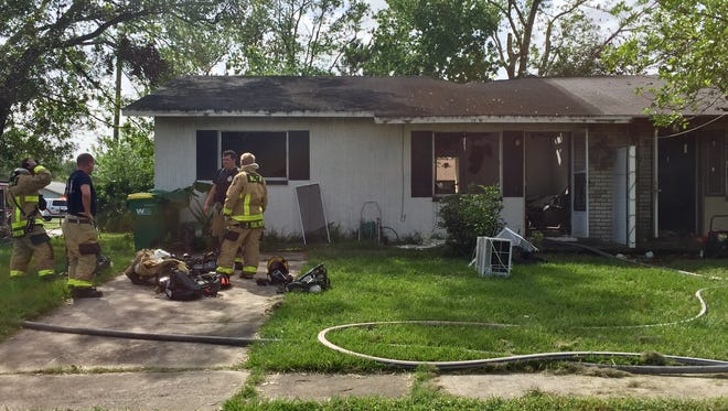 An attic fire struck a brick duplex Sunday morning in west Cocoa.
