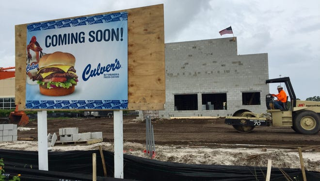 Culver's is under construction at Hammock Landing in West Melbourne, between the AT&T store and Discount Tire.