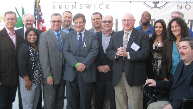 North Brunswick Mayor Francis 'Mac' Womack, along with state, county and township officials, announced funding for the project.