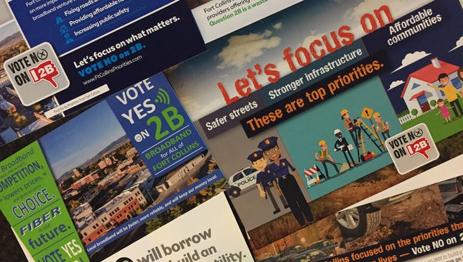 Fort Collins voters are receiving lots of mailers about the city's broadband question on the Nov. 7 ballot.