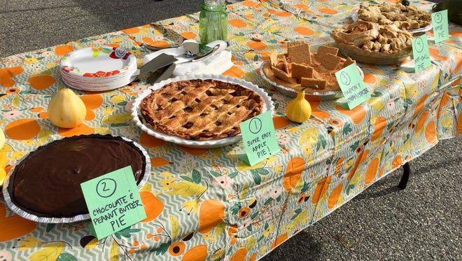 Five homemade pies were entered in Boonton's annual competition Saturday.