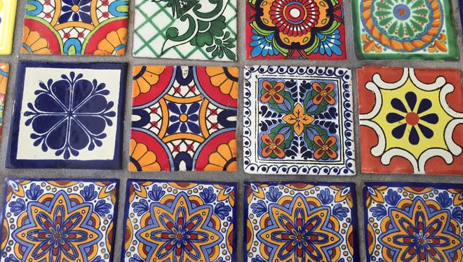 Tiles from the kitchen of Mazunte's commissary in Madisonville