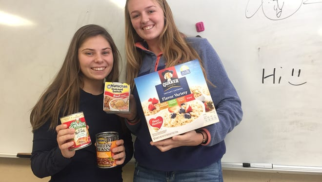Riley Shagena and Madison Adair, students from Port Huron Northern High School, are currently raising money and collecting food for students in need.