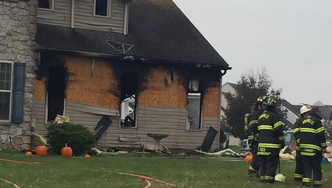 No one was injured but the home at 502 Royal Road in South Londonderry Township was badly damaged by a fire during the morning of Nov. 13, 2017.