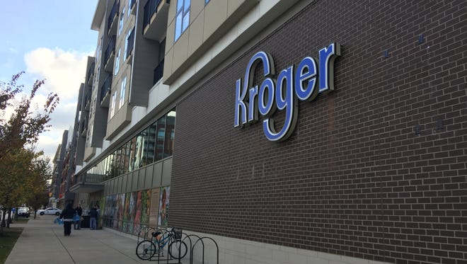 Kroger opened Downtown at 227 W. Michigan St., formerly a Marsh grocery store purchased when the grocery chain filed for chapter 11 bankruptcy in June.