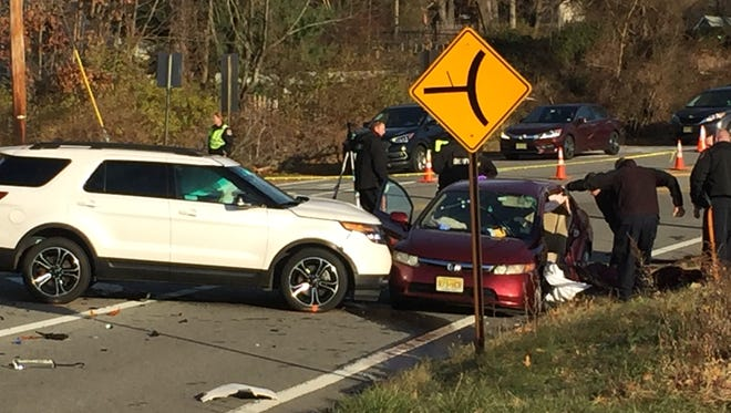 A two-vehicle accident in the Flanders section of Mount Olive on Tuesday morning left one dead.