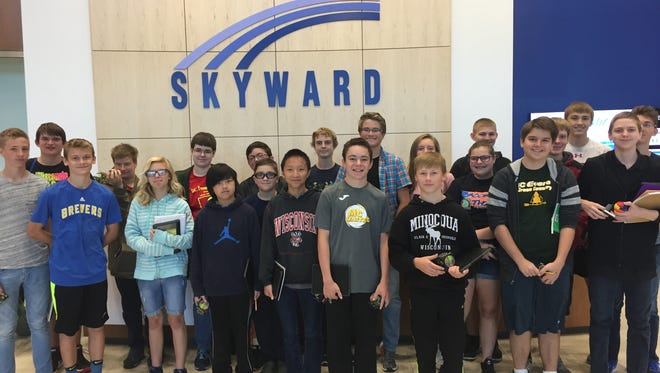 D.C. Everest Junior High computer science students recently toured Skyward in Stevens Point.