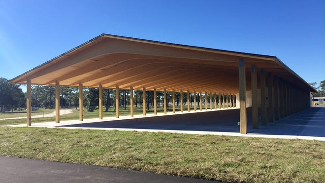 The new Wickham Park Pavilion in Melbourne.