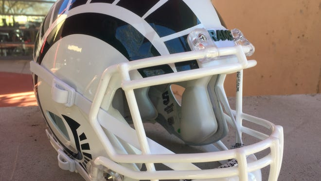 The CSU football team unveiled these new white helmets in advance of Saturday's New Mexico Bowl game against Marshall.