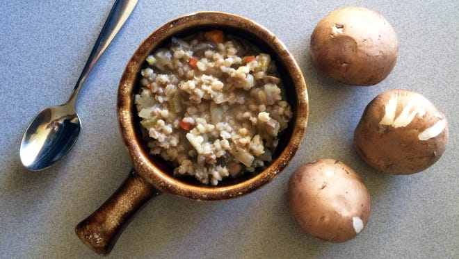 Mushroom barley soup would be great on Christmas Eve or for a simple supper.