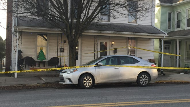 Outside the home on North Main Street in Spring Grove where an alleged homicide took place Dec. 16.