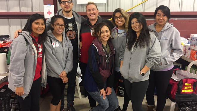 Ventura College nursing students worked at Oxnard College when it was serving as an evacuation center for those escaping the Thomas Fire.