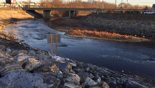 This is the Codorus Creek, near South Richland Avenue and Zinn's Quarry Road in West Manchester Township, where a man's body was found Tuesday.