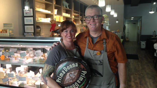 Tina and Alan Mooney stand in their cheese shop, The Fox and the Crow, at 2601 S. Lemay Ave., Unit 21, in Midtown Fort Collins in this file photo. The Mooneys have experienced an outpouring of community support after their business was burglarized last week.