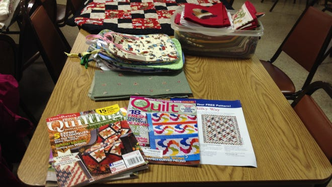 Sublimity Quilters prepare for the Annual Quilt Week, Jan. 22-26, 2018, at St. Boniface Rectory Basement Hall.