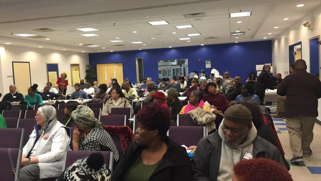 """Dozens of mostly black Wilmington residents attended an event to """"resist"""" what they call discrimination in the city's transportation and housing."""