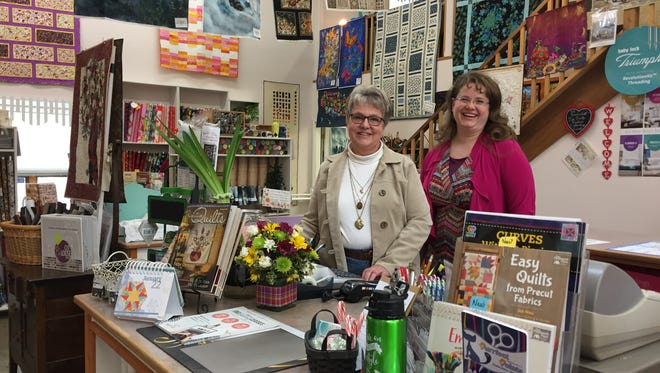 Annemarie Neiffer, left, and Patricia Sue Nelson are the new owners of The Quilt A Way in Great Falls.