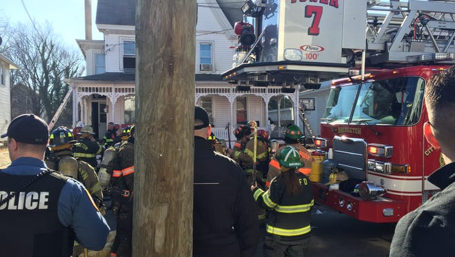 At least nine fire departments, including Bridgeton, responded Friday afternoon to a fire on the 100 block of Cottage Avenue in Bridgeton.