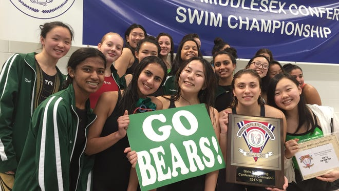The East Brunswick girls swim team won its fifth-straight GMC swim championship on Saturday at the Raritan Bay YMCA.