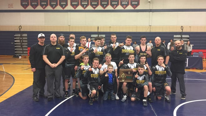 Ater several years of knocking on the door, the Northmor Knights have busted through to the Elite Eight in Sunday's state dual team wrestling tournament in Ohio State's St. John Arena.