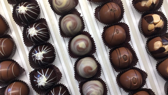 Assorted truffles at DeBrand Fine Chocolates, 8685 River Crossing Blvd., on Indianapolis' north side. DeBrand will be at the IndyStar Wine & Food Experience in Carmel.