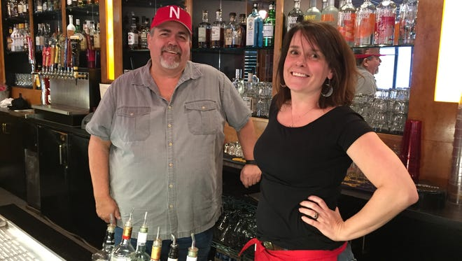 """Jim """"JB"""" Quick recently purchased the former Pappy's Corner Pub and reopened it as GameDay Sports Grill.  Rachel Miller, right, worked at Pappy's and is helping Quick run GameDay."""