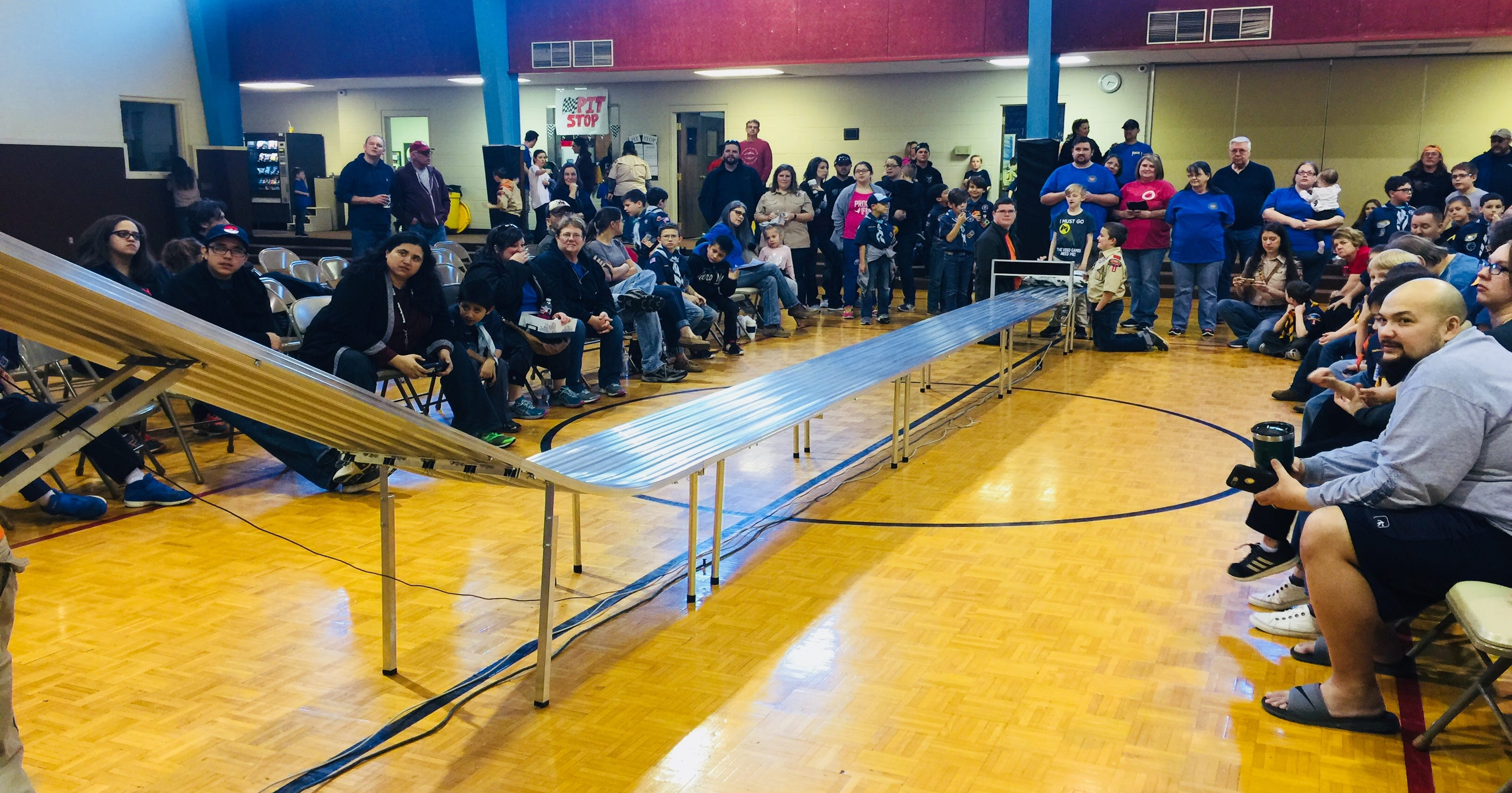 Scouts Parents Put Pinewood Derby Cars To Test