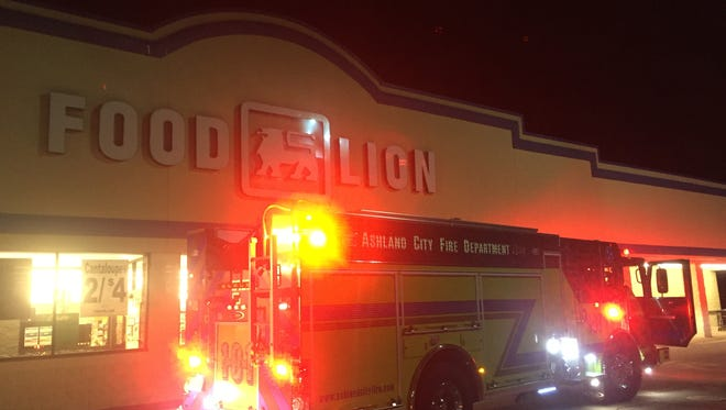 The Ashland City Fire Department responded to a call of a fire in a freezer in Food Lion late Sunday night.