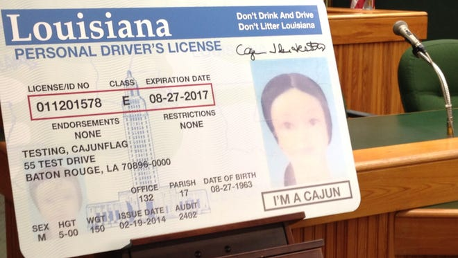 "Louisiana drivers can have ""I'm a Cajun"" placed on their licenses."