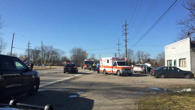 A woman was seriously injured as the result of a two-vehicle crash in Columbus Township on Feb. 26, 2018. Her dog was also killed during the collision.
