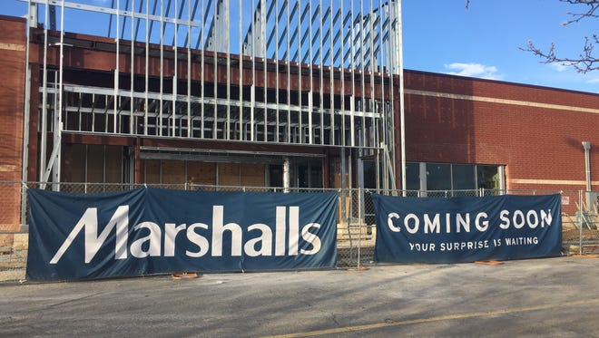 A banner advertising the upcoming addition of a Marshalls store is on display at the York Galleria Mall. A representative from the department store confirmed that its anticipated opening is in April.