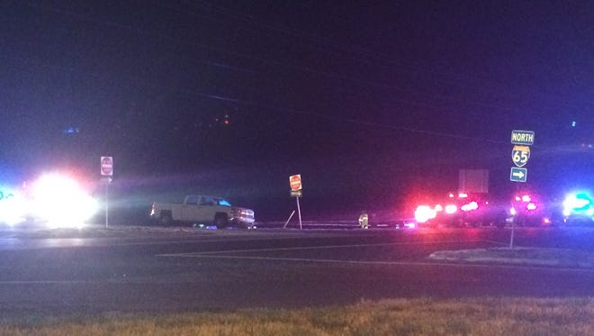 Law enforcement is gathered at the scene of an officer-involved shooting in Robertson County.