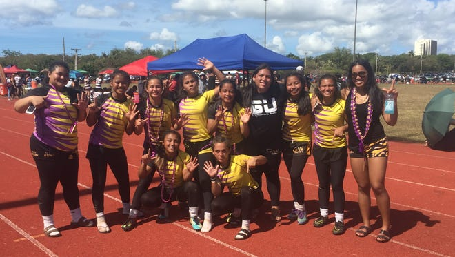 The George Washington Lady Geckos made it seven straight girls rugby titles after their 15-10 win over the Academy of Our Lady of Guam Cougars on Saturday, March 10 at GW.