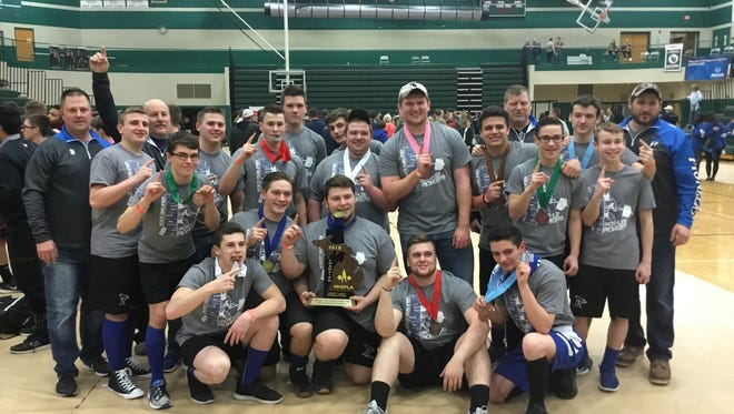 The Croswell-Lexington boys  powerlifting team won a state championship over the weekend.