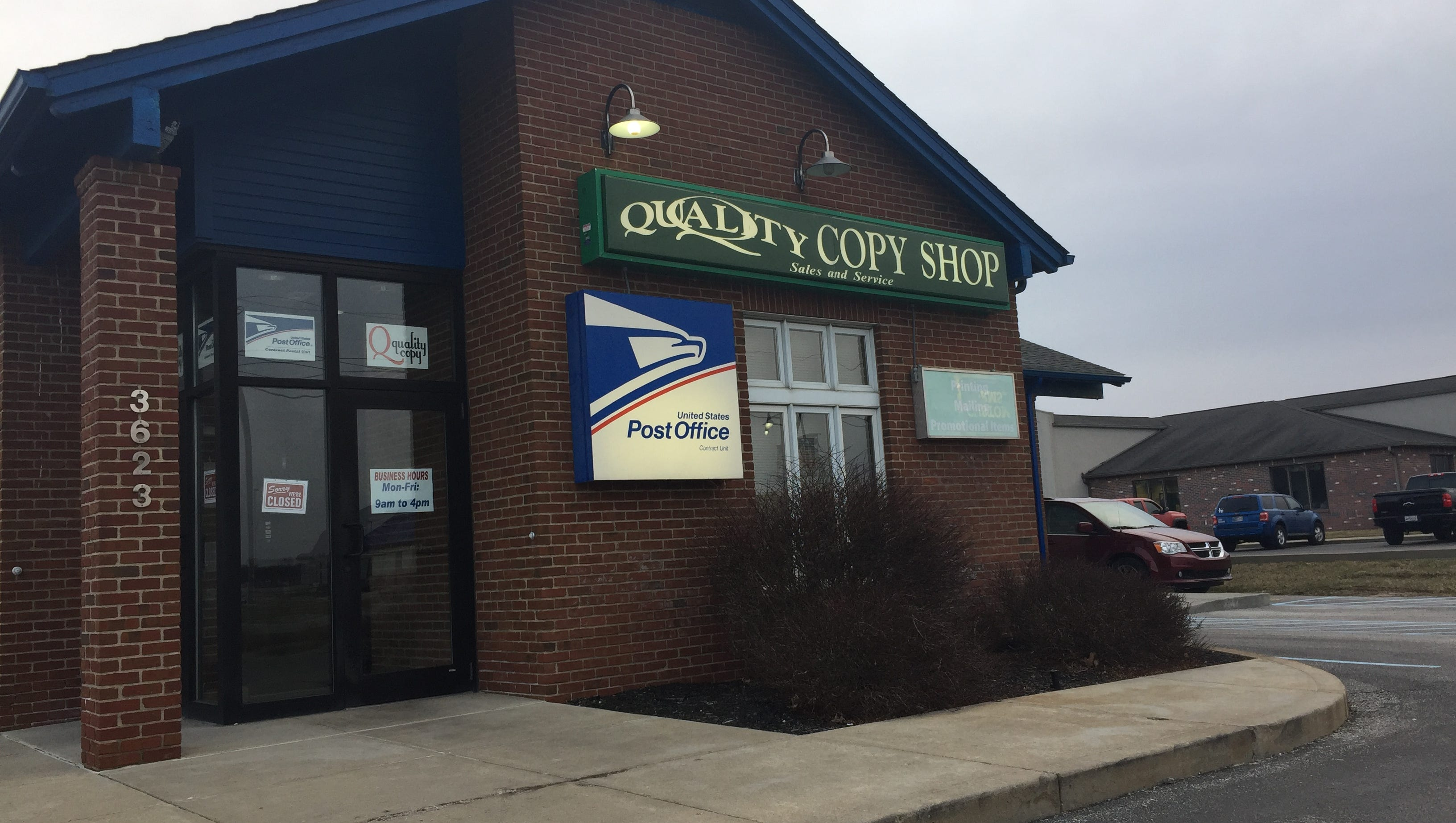 Quality Copy Closing March 30 Along With Its Post Office
