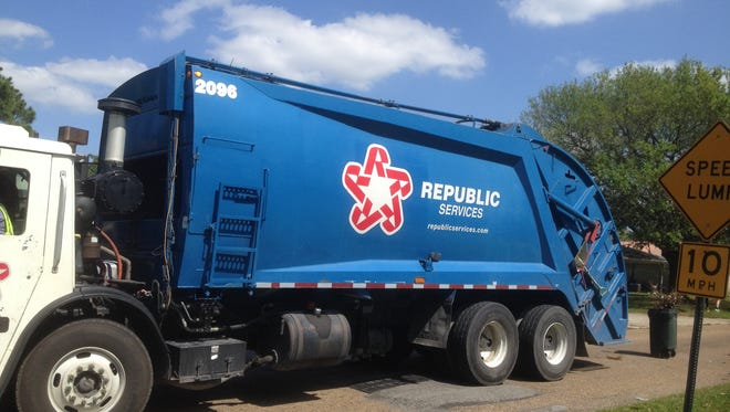 Republic Services has the garbage, yard waste and recycling contract with Lafayette Consolidated Government.