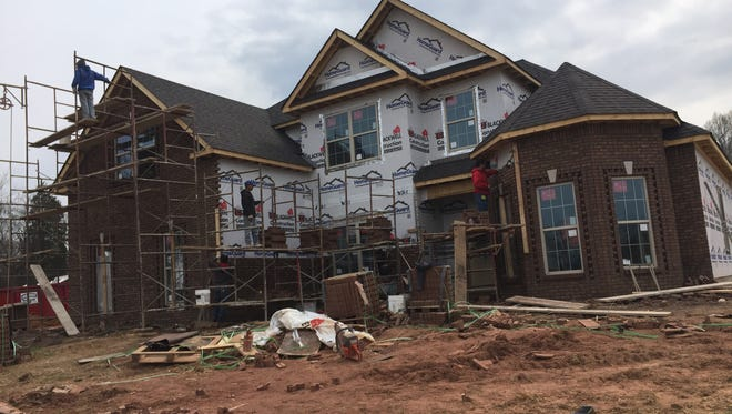 This house on Bend Road was stripped of copper while it was under construction.
