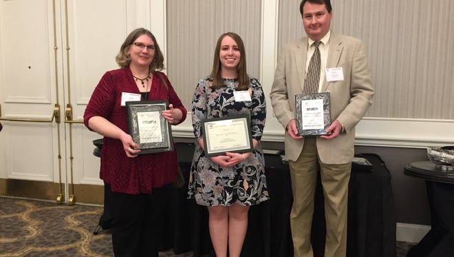 News Journal acting editor Gere Goble and reporters Emily Mills and Mark Caudill represented the paper at Saturday's Ohio Associated Press Media Editors awards banquet in Columbus.