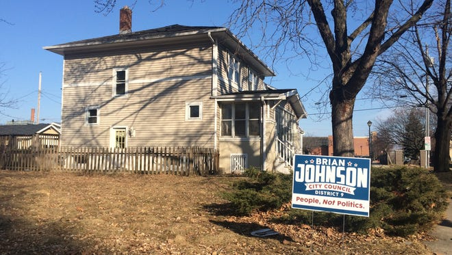Green Bay City Council candidate Brian Johnson rents this house at 816 Hubbard St. from Brian Johnson LLC, a company owned by developer Garret Bader.