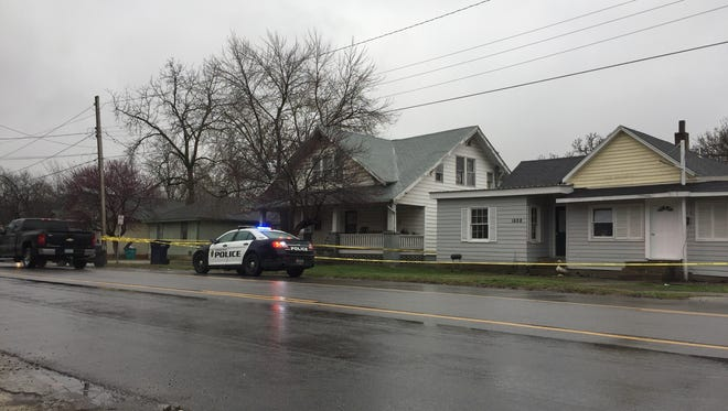 Springfield police investigate a suspicious death Sunday, April 1, 2018, in the 1000 block of East Commercial Street.