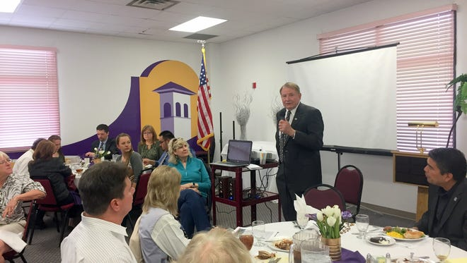 Silver City Mayor Ken Ladner was the guest speaker at the Silver City Grant County Chamber of Commerce Luncheon last week at Western New Mexico University.