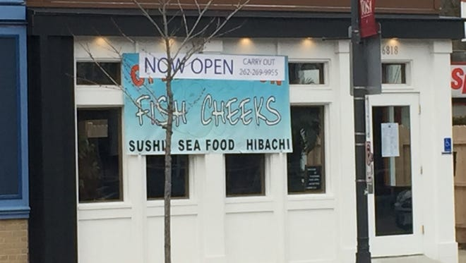 Fish Cheeks, serving sushi and fish and hibachi-grilled entrees, is at 6818 W. North Ave.