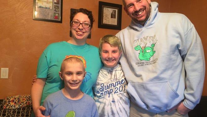 From left: Tiernan Kriner, 9; Libby Kriner, 33; Brennan Kriner, 10; Chad Kriner, 38